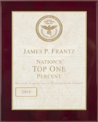 James P. Frantz Nations top 1%